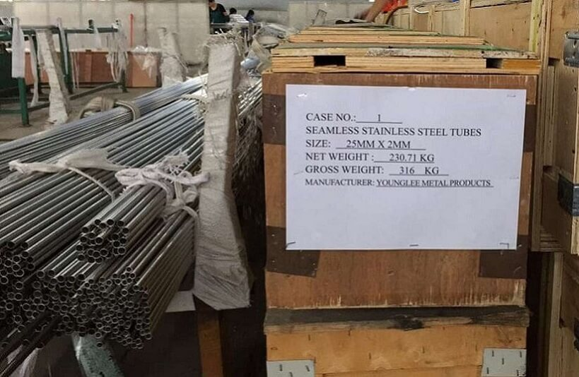 Younglee stainless steel seamless tubes packed