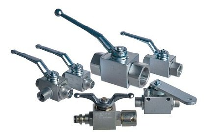 Hydraulic ball valves, industrial valves