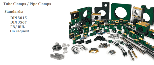 hydrauic pipe, tube, hose clamps
