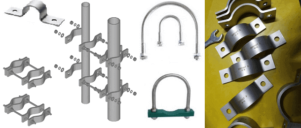 Steel pipe clamps, steel tube clamps